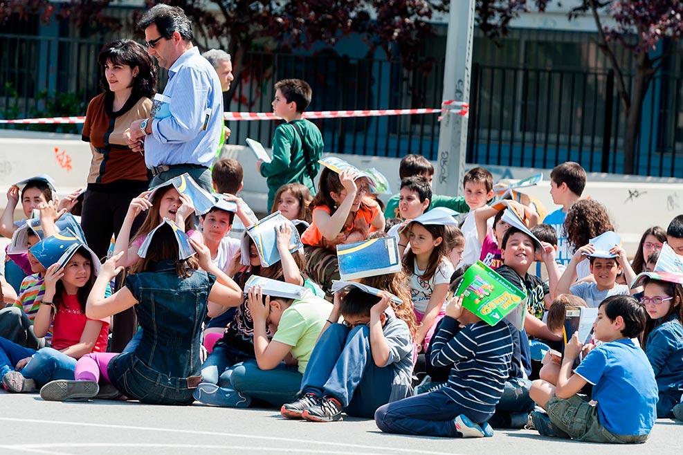 Simulacro y práctica de evacuación en centros escolares