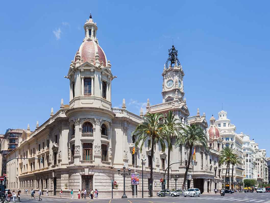 Visita al ayuntamiento de Valencia