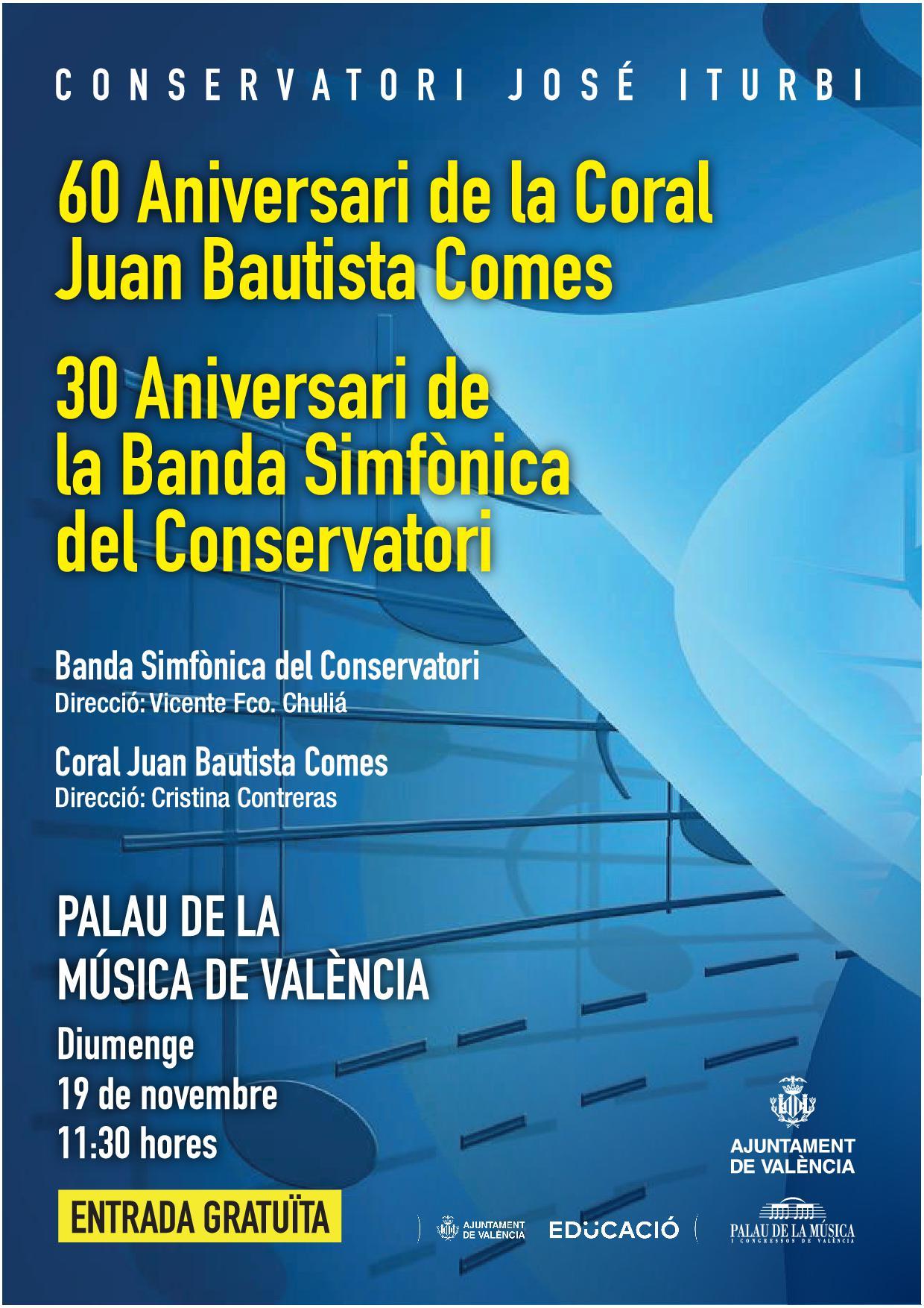 Àudios del Concert aniversari de la Coral Juan Bautista Comes i la Banda simfònica del Conservatori José Iturbi