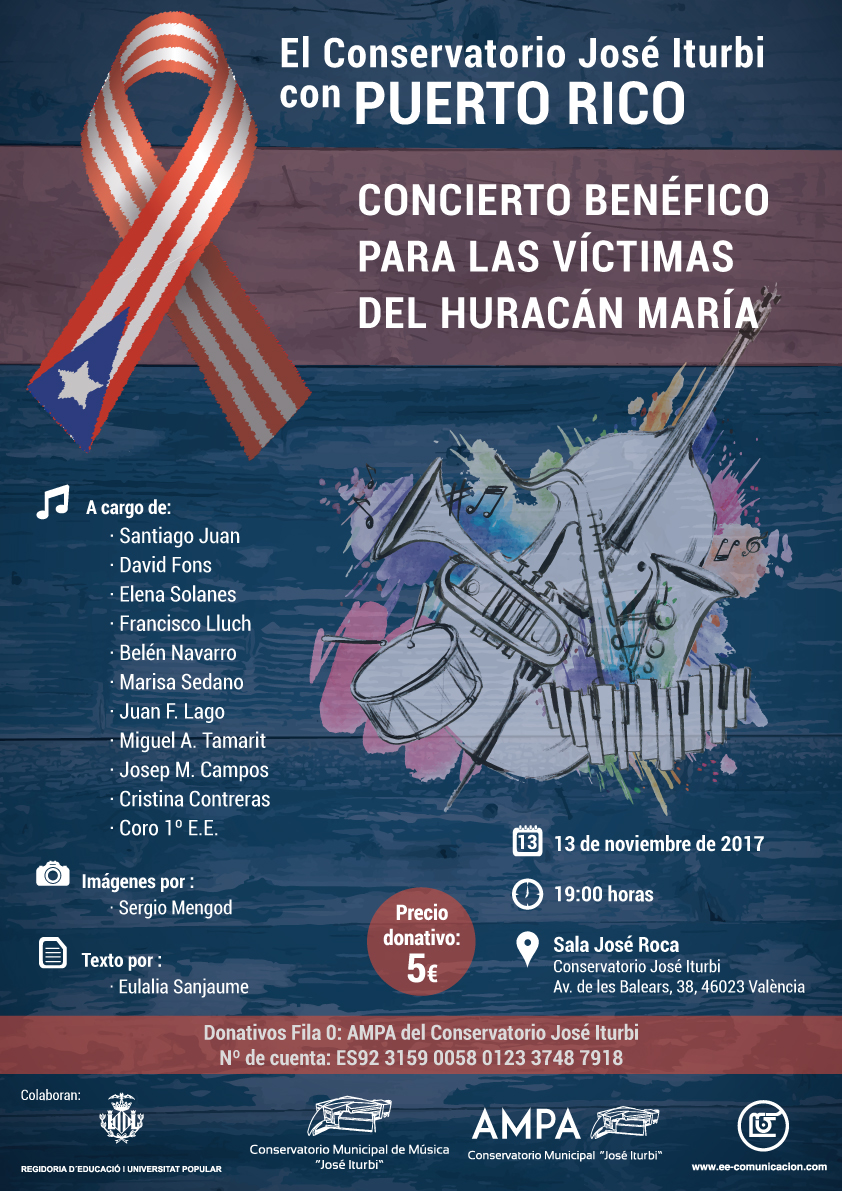 Concert benèfic per a les víctimes de l'huracà María