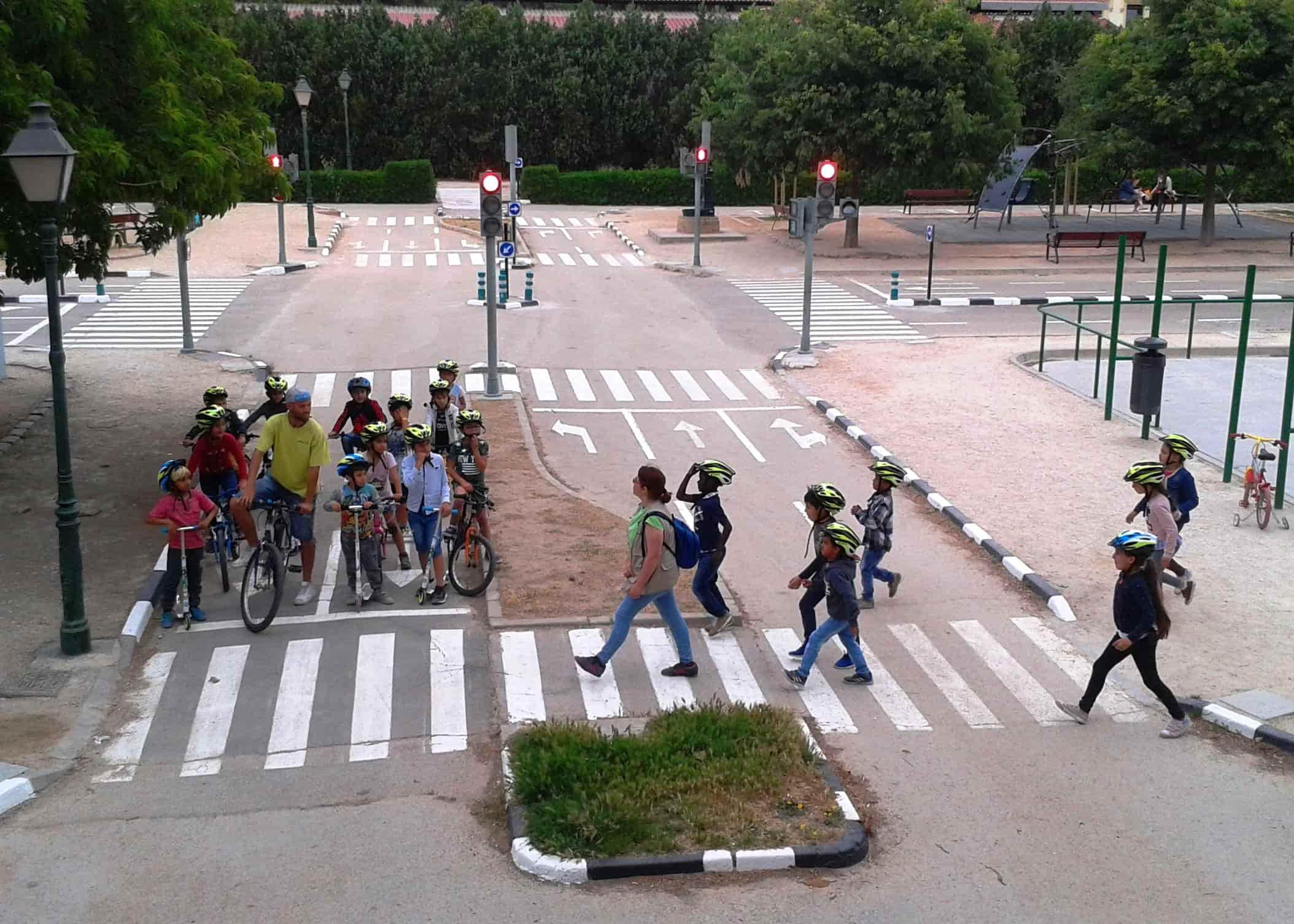 Visita al Parc Infantil de Trànsit. El Trànsit i l'Educació Vial
